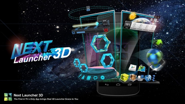 Next Launcher 3D Shell 3.7.3.2 + Themes Pack