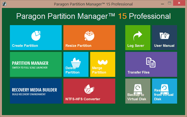Paragon Partition Manager 15 Professional 10.1.25.779
