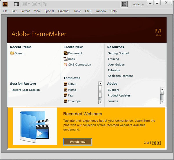 Adobe Framemaker 2015 13.0.3.494