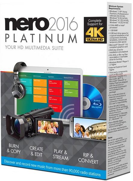 Nero 2016 Platinum 17.0.04100